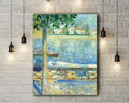 Edvard Munch: The Seine at Saint-Cloud. Fine Art Canvas.